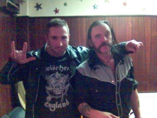 Lem and me backstage at Glasgow Barrowlands